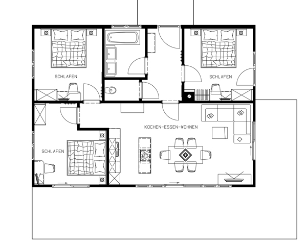 waldh usl appartment neukirchen. Black Bedroom Furniture Sets. Home Design Ideas